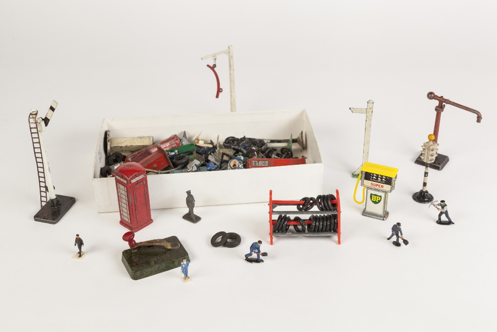 Lot 416 - SEVEN CIRCA 1960's AND LATER CORGI AND DINKY DIE CAST TOY VEHICLES, all playworn and some lacking