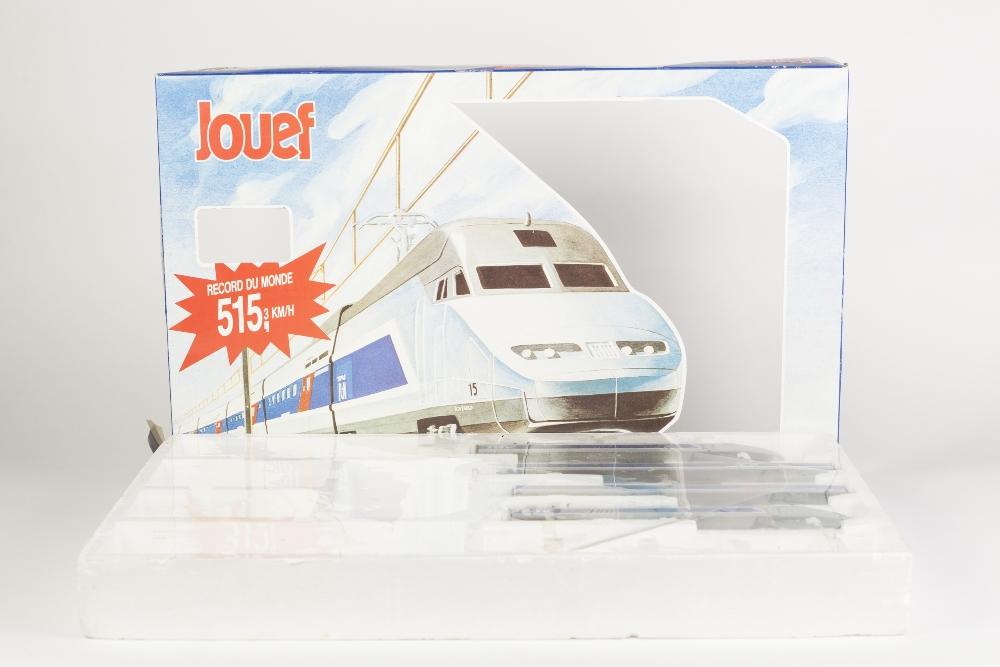 Lot 395 - JOUEF FRANCE BOXED H0 GAUGE PART TGV HIGH SPEED MAINLINE TRAIN SET with power unit, dummy unit and