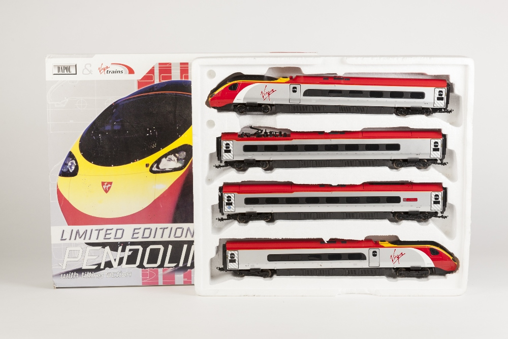 Lot 384 - DAPOL 00 GAUGE BOXED LIMITED EDITION PACK VIRGIN TRAINS PENDOLINO E.M.U. No 390014 with tilting