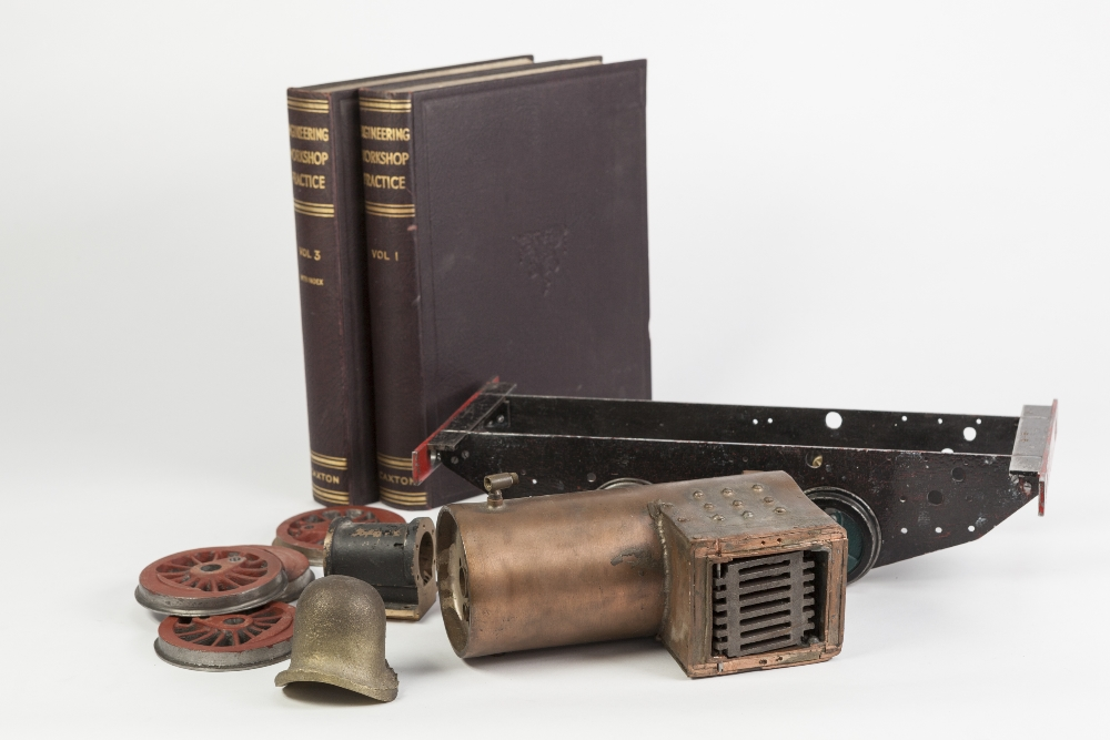 Lot 415 - LARGE COLLECTION OF LIVE STEAM MODEL LOCOTMOTIVE PARTS to include two made-up boilers with fire
