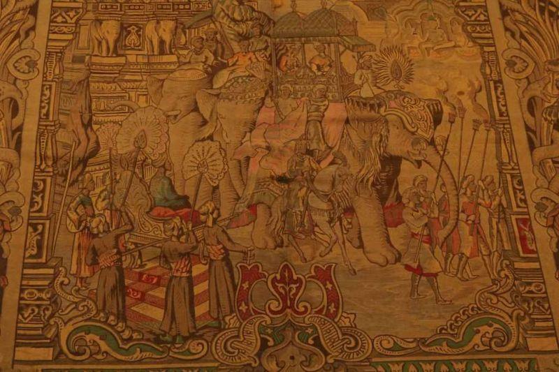 Gobelin met voorstelling van optocht van de Sultan, 290 x 140 cm. - Bild 2 aus 4