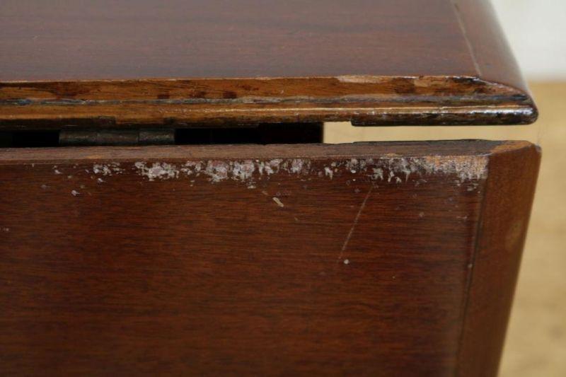 Mahonie gateleg tafel, Engeland 19e eeuw, h. 76, br. 105, d. 105 cm. - Bild 3 aus 4