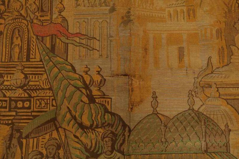 Gobelin met voorstelling van optocht van de Sultan, 290 x 140 cm. - Bild 4 aus 4