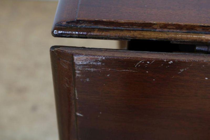 Mahonie gateleg tafel, Engeland 19e eeuw, h. 76, br. 105, d. 105 cm. - Bild 4 aus 4