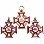 Military Cross of Merit - three awardsDie drei Kreuze jew. 3. Klasse mit KD, in varianter