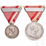 Medal of Bravery - two awardsGroße Silberne (1. Klasse) unter Kaiser Franz Joseph I., mit