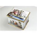 The fine mounts to rim and base with applied ribbon work.  The painted scenes including one of the