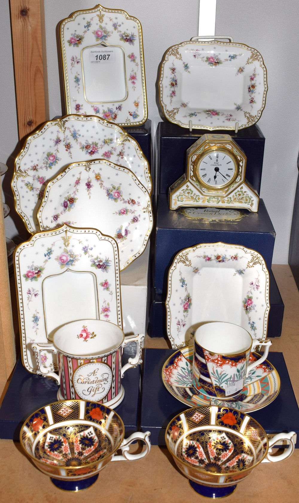 98b747eb4ae A Royal Crown Derby Antoinette Pattern Photo Frame Boxed. Royal Crown Derby  Old Imari Solid Gold Band Erfly