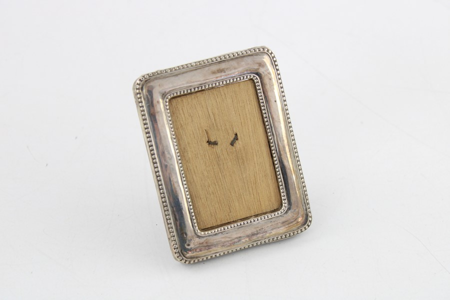 Vintage hallmarked silver photograph frames Inc miniature items are in vintage condition signs of - Image 3 of 5