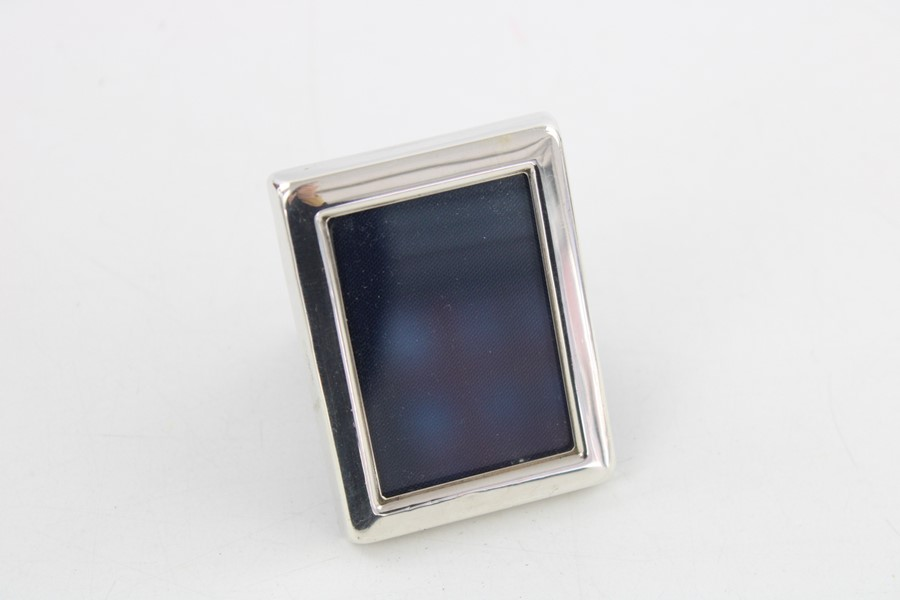 Vintage hallmarked silver photograph frames Inc miniature items are in vintage condition signs of - Image 2 of 5
