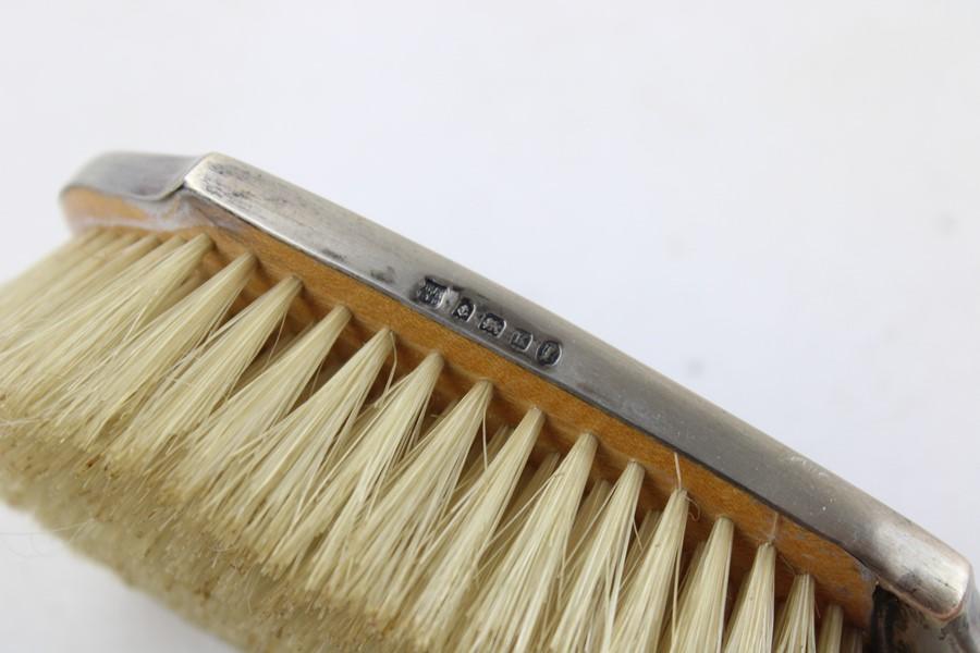 2 x Vintage Hallmarked .925 silver Ladies Vanity Brush & Mirror (302g) Items are in vintage conditio - Image 3 of 7