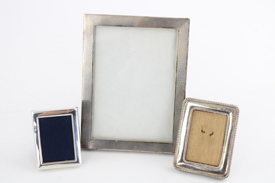 Vintage hallmarked silver photograph frames Inc miniature items are in vintage condition signs of