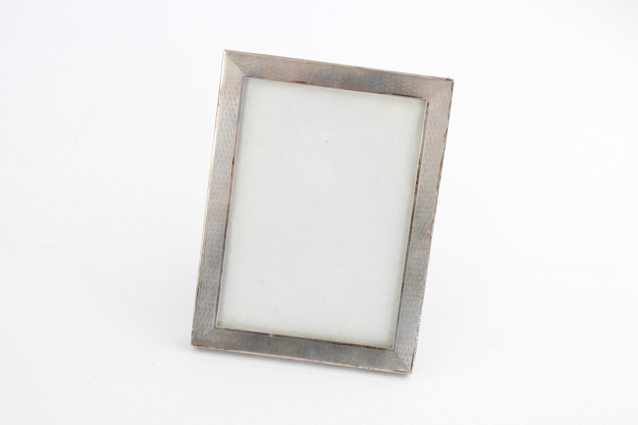 Vintage hallmarked silver photograph frames Inc miniature items are in vintage condition signs of - Image 4 of 5