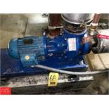 Flowserve 3 HP Pumps; (1) 3 x 2 x 6 and (1) Parts Unit, Model A411100 Rigging Fee: 50