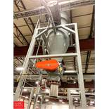 Cone Bottom Super Sack Fill-Hopper with Power Air Lock Rigging Fee: 2750
