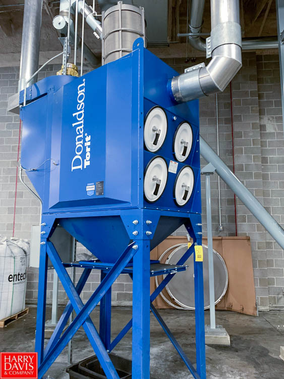 2016 Donaldson Torit Bag House Dust Collector, Type Down Flow Oval Model DF02-8, S/N 1900086-1.1-1