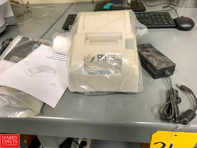 NEW Polymer Testing Instruments Thermal Printer, Model GP-589OXIII Rigging Fee: 50
