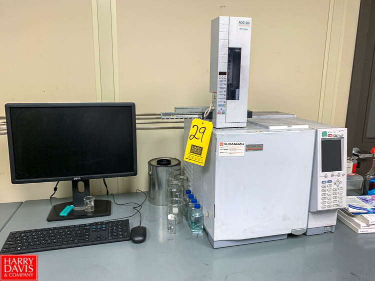 Shimadzu Gas Chromatograph Model GC-2010 Plus, with AOC-20i Auto Injector and Dell P/C Rigging