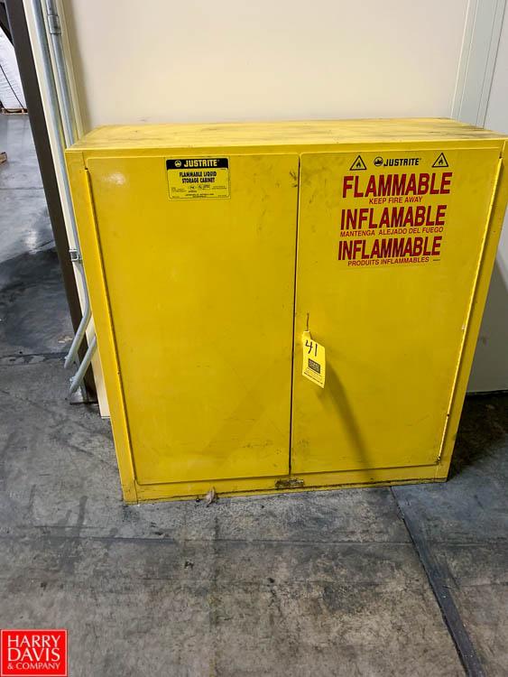 Justrite 30 Gallon Flammable Storage Cabinet Rigging Fee: 50