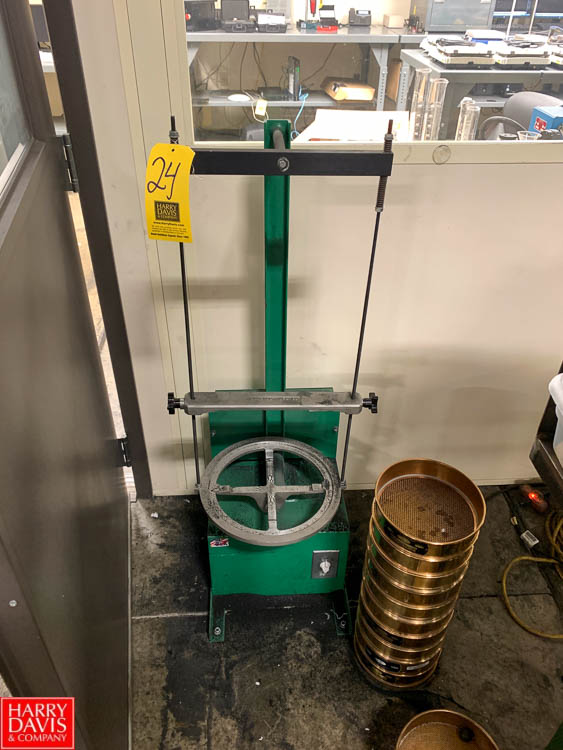 Dual Sieve Shaker, Model D-4330, with (28) Sieves Rigging Fee: 150