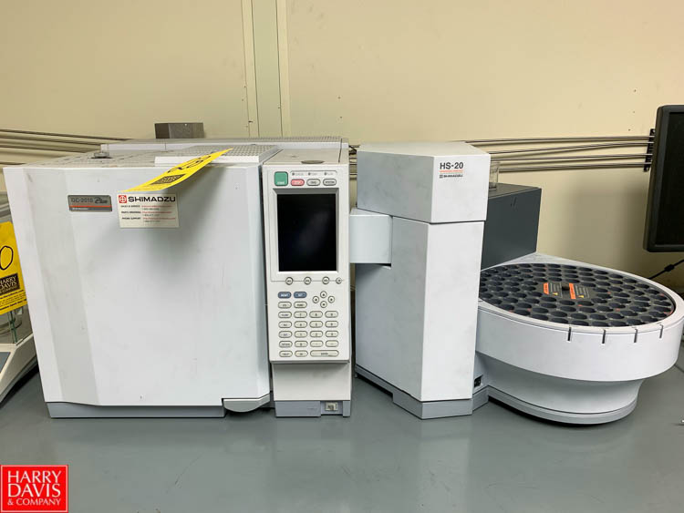 Shimadzu Gas Chromatograph Model GC-2010 Plus, with HS-20 Head Space Sampler Rigging Fee: 150