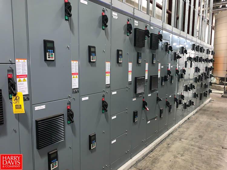 Allen Bradley Intelli Center 1200/300 AMP MCC, with (50) Disconnects and (18) Allen Bradley 735, 525