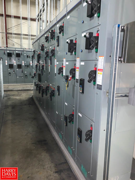 Allen Bradley 600/300 AMP MCC with (26) Disconnects and (18) Allen Bradley 735/525 VFDS; NO Cable or