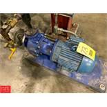 Flowserve 3 HP Pump, 1 x 1.5 x 6, Model 11100-ACO Rigging Fee: 50
