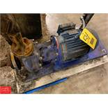 "Flowserve Pump, 3 HP, 1.5 x 1 x 6.33"" , Model A11100, S/N 53783 Rigging Fee: 100"