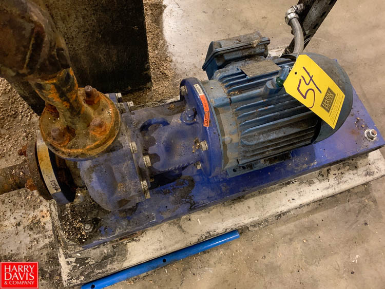 "Flowserve Pump, 3 HP, 1.5 x 1 x 6.33"" , Model A11100, S/N 53783 Rigging Fee: 100"
