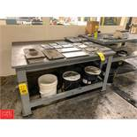 "Steel Work Table, 48"" x 60"" Rigging Fee: 50"
