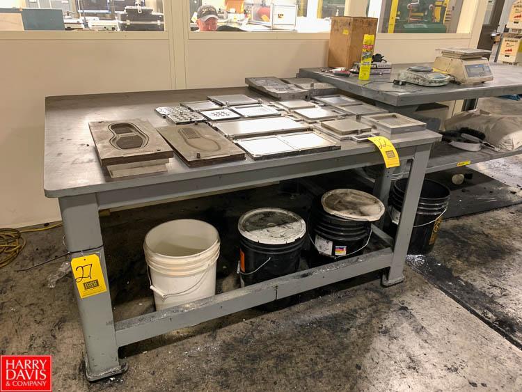 "Steel Work Table, 48"" x 60"" Rigging Fee: 50"