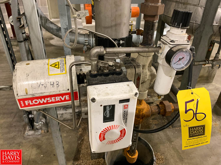 Flowserve Valve with 316 S/S Seat and Endress Hauser Transducer, Model Delta Bar 5 Rigging Fee: 100