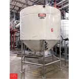 2,000 Gallon S/S Cone Bottom Tank with Agitator Rigging Fee: 400