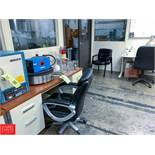 (2) Desks, Office Table, (5) Chairs Rigging Fee: 300