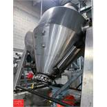 Feldmeier S/S Dual Cone Vacuum Dryer, S/N D-20052, 250ºF Full Vacuum 14 Psi, Mounted on Load Cells