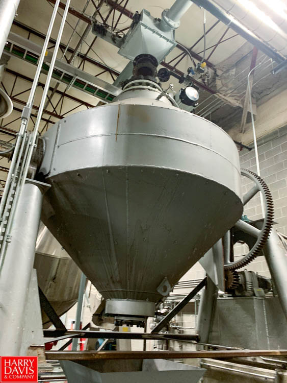 Patterson Kelly 316 S/S Dual Cone Vacuum Dryer, S/N 154741, Mounted on Load Cells with Digital