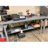 "36"" x 72"" Steel Work Tables with Undershelves Rigging Fee: 150"