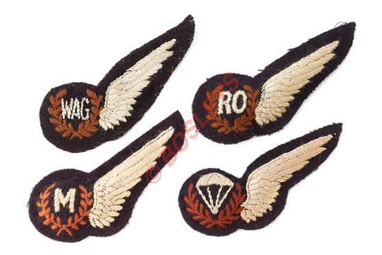 Selection of WW2 Royal Air Force RAF Aircrew Brevets