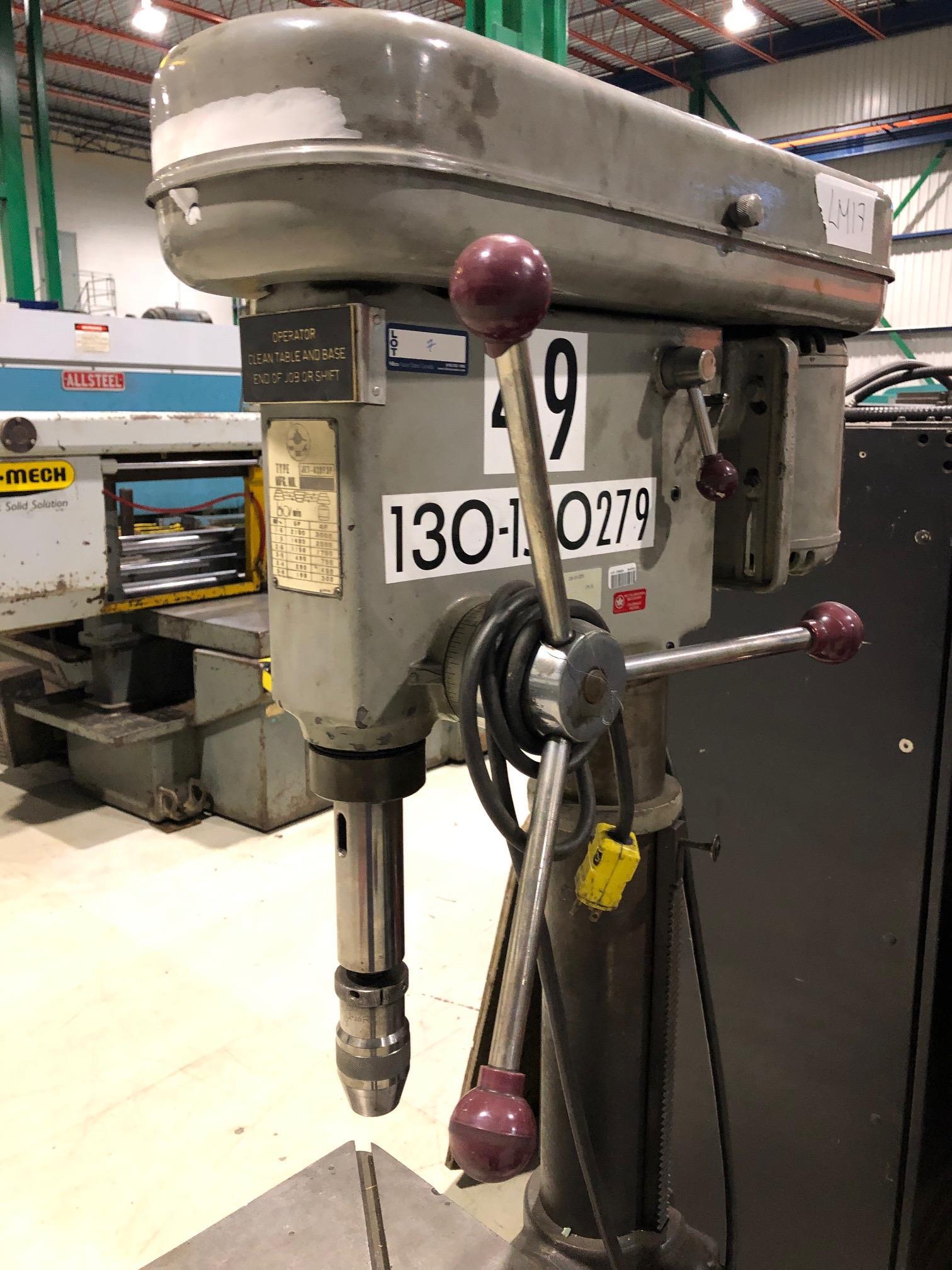 JET PEDESTAL DRILL MOD. 420F3P, 190-3000 RPM, 120V - Image 2 of 3