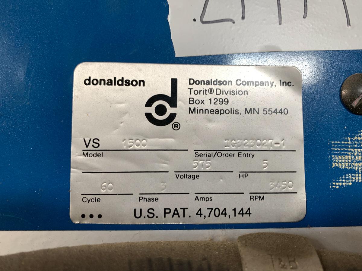 TORIT DONALDSON MOD. VS1500, 575 VOLTS - Image 3 of 3