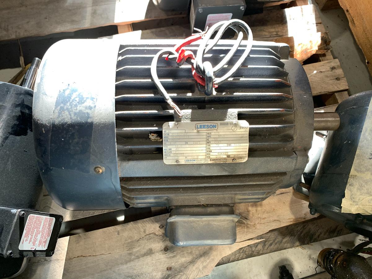 LEESON 10 HP MOTOR, 575 VOLTS