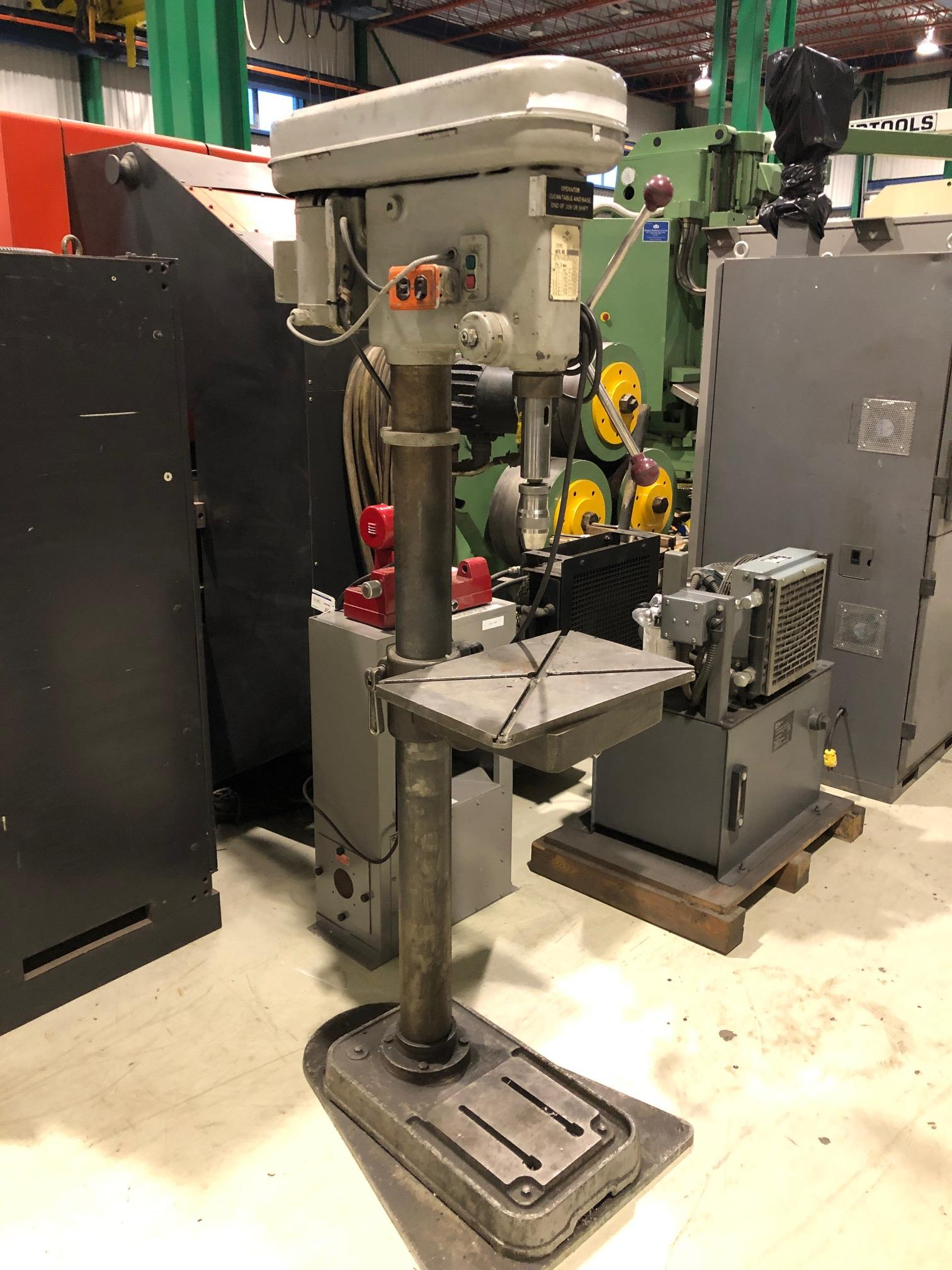 JET PEDESTAL DRILL MOD. 420F3P, 190-3000 RPM, 120V - Image 3 of 3