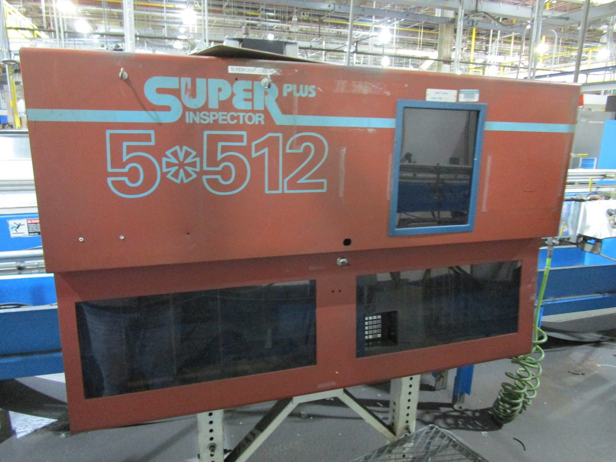 1997 Barry Wehmiller Inex Super Inspector Plus 5*512 Sidewall Inspection Machine | Rig Fee: $1000