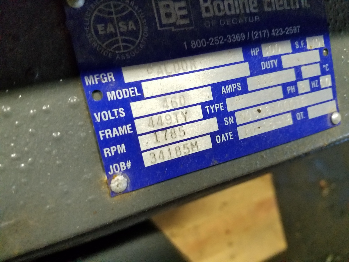 Bodine Electric Motor, 300 HP | Rig Fee: $25 - Image 3 of 3