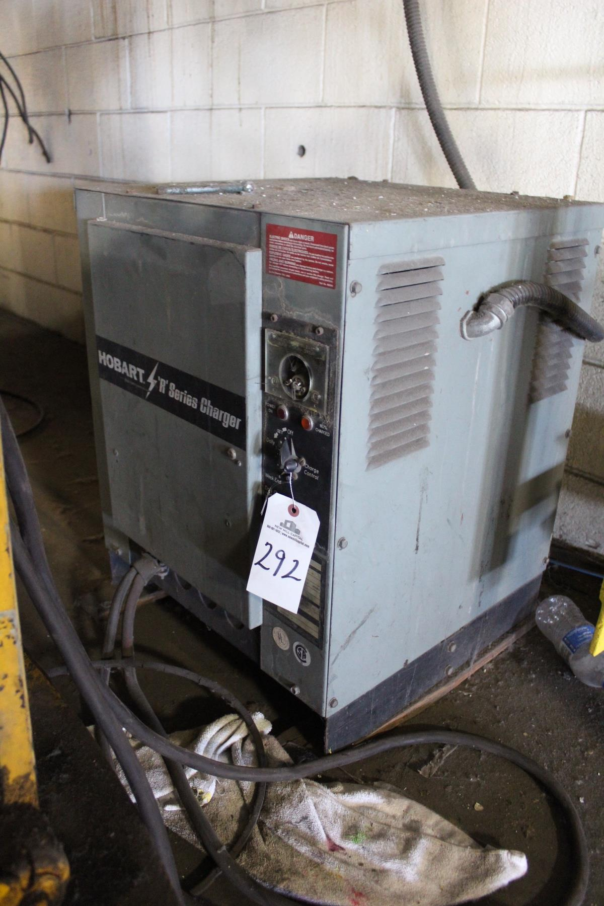 Hobart Battery Charger,12 Volt, S/N 1B7C502809   Rig Fee: $25
