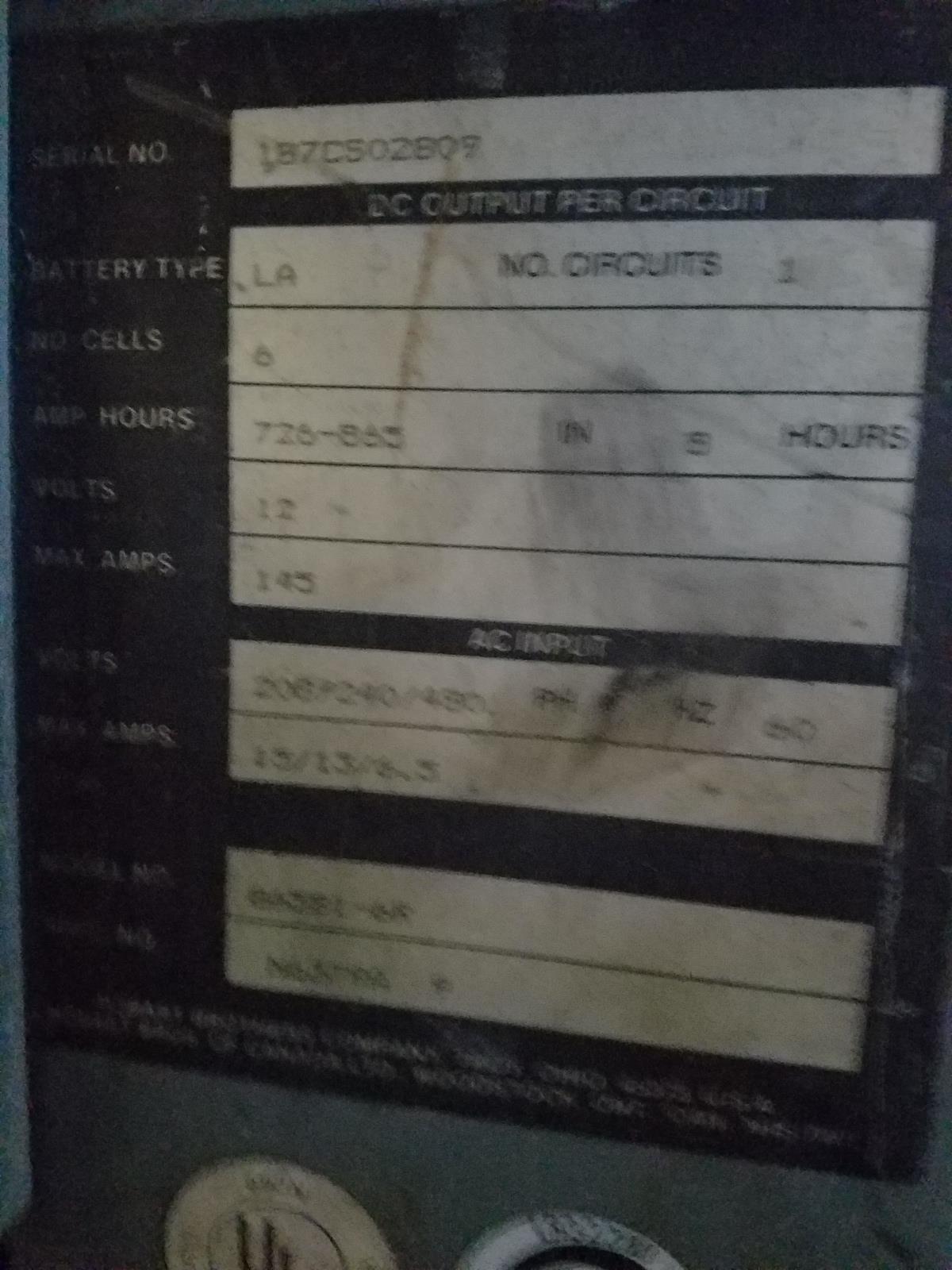 Hobart Battery Charger,12 Volt, S/N 1B7C502809   Rig Fee: $25 - Image 2 of 2