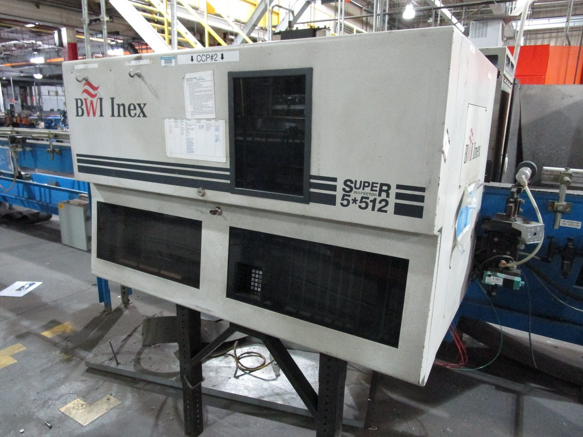1997 Barry Wehmiller Inex Super Inspector 5*512 Sidewall Inspection Machine s/n 1 | Rig Fee: $1000