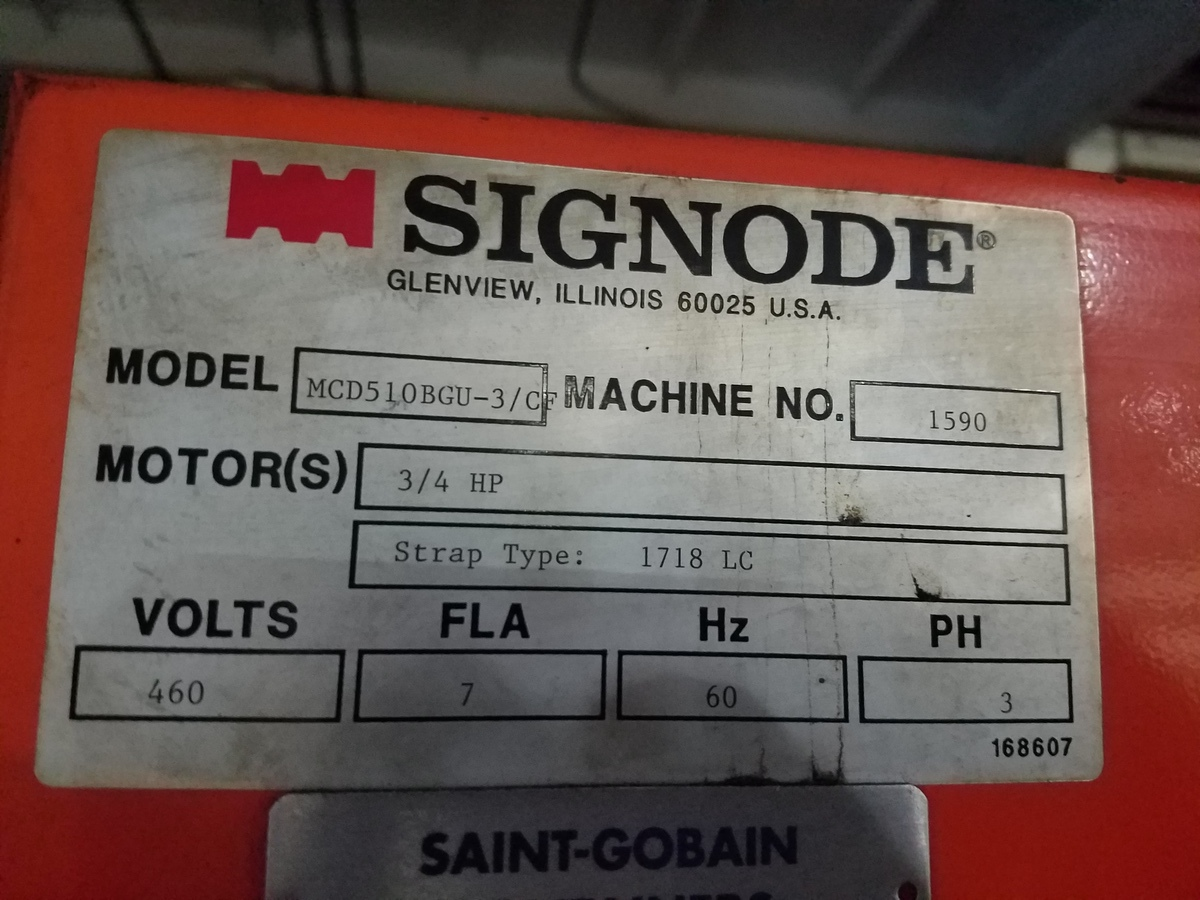 Signode Automatic Strapping Machine, M# MCD5LOBGU-3/C, S/N 1590 | Rig Fee: Contact Rigger - Image 2 of 2