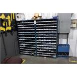 Lot of (2) Bolt Bins w/Contents and Material Storage Rack | Rig Fee: Hand Carry or Contact Rigger